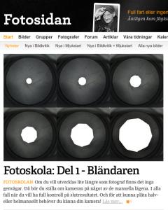 Min artikel på Fotosidan.se