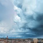 Blixt över Öckerö kyrka - Foto: Viktor Sundberg