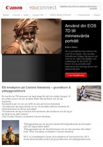 Med i Canons nyhetsbrev