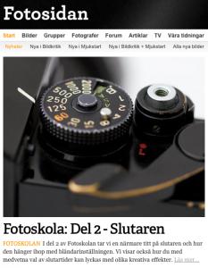 Min andra artikel på Fotosidan.se