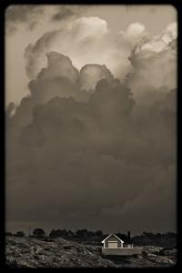 Stugan bland molnen