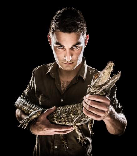 Daniel med krokodil - Foto: Viktor Sundberg