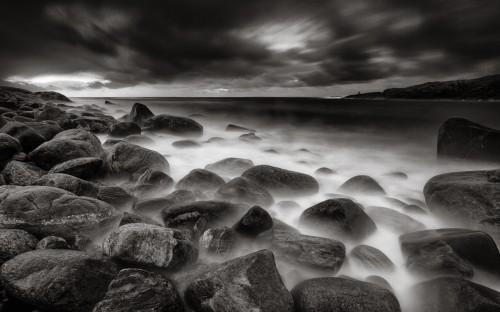 Hummerviken i svartvitt - Foto: Viktor Sundberg