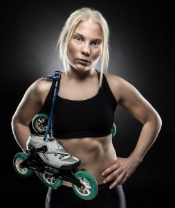 Nathalie Larsen med Inlines - Foto: Viktor Sundberg