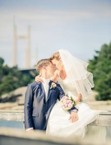 Bröllopsfoto, Tjörnbron | Helena och Kim - Foto: Viktor Sundberg
